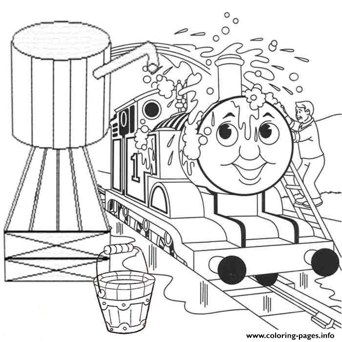 Washing Thomas Train Colouring Pages To Print9634 Coloring Pages ...