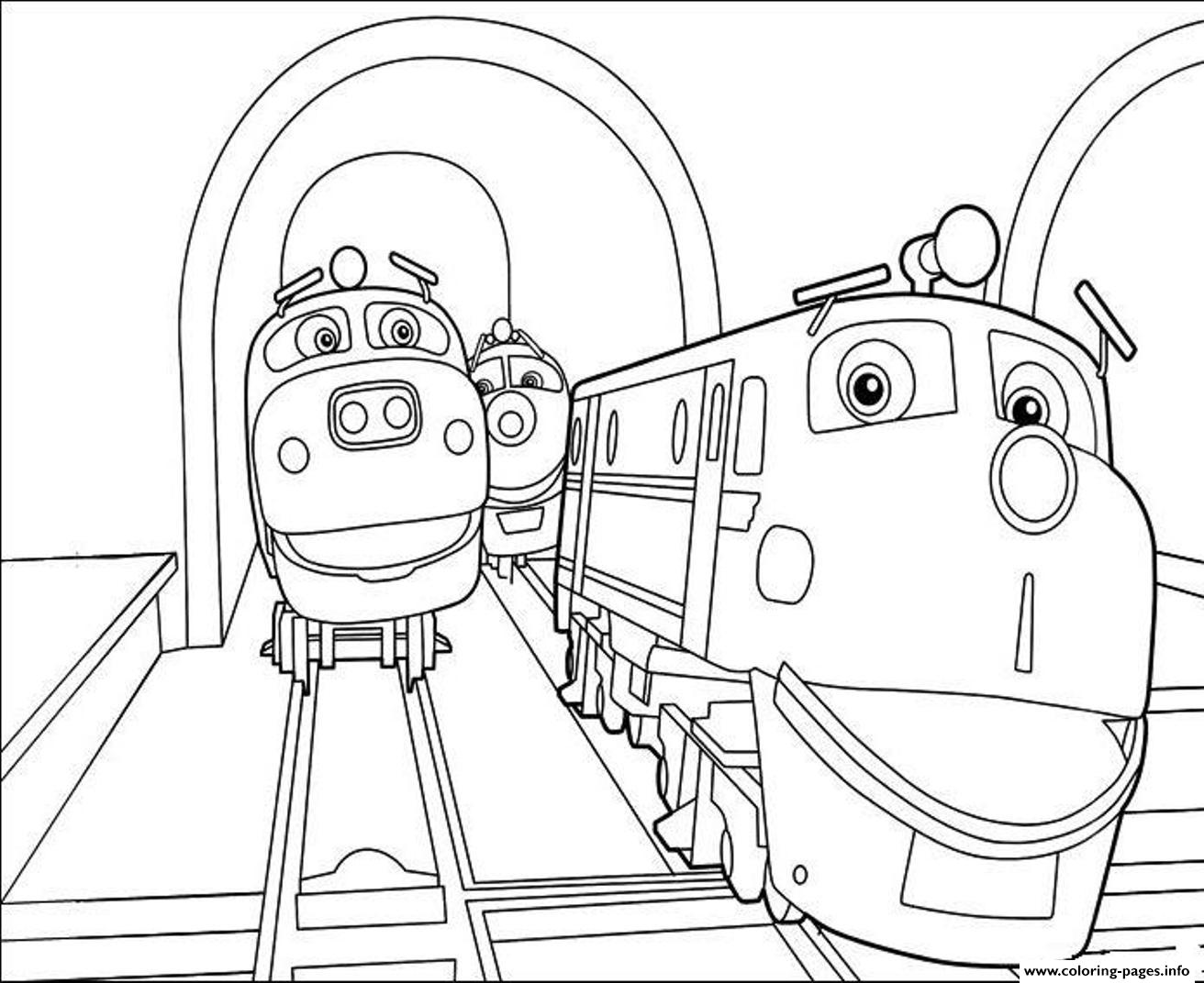 Train Chuggington S6779 Coloring Pages Printable