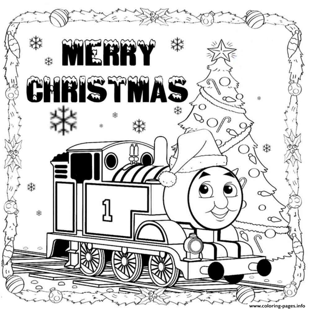Thomas the train merry christmas s9ef8 coloring pages printable