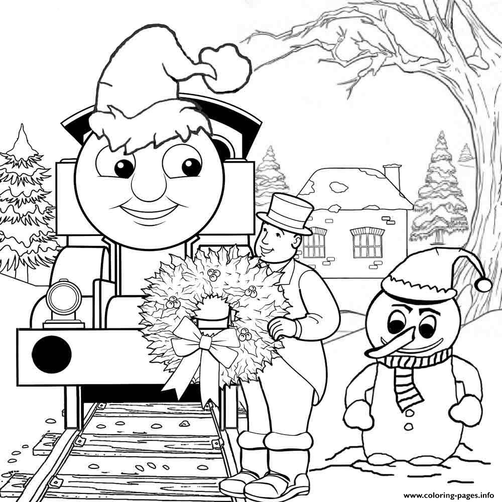 - Thomas The Train S Christmas Day15f5 Coloring Pages Printable