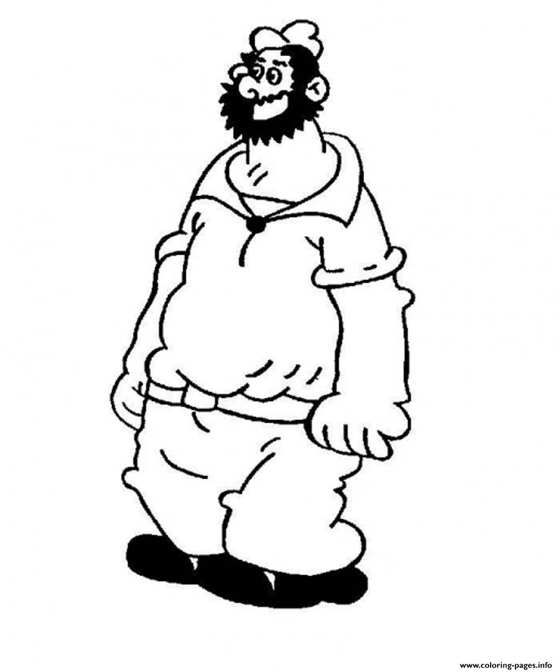 Bluto Popeye Sd2b3 Coloring Pages Printable