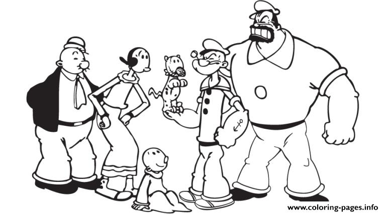 popeye and friends c289 Coloring pages Printable