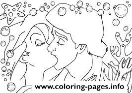 Eric Kissing Ariel Disney Princess S5a0f Coloring Pages