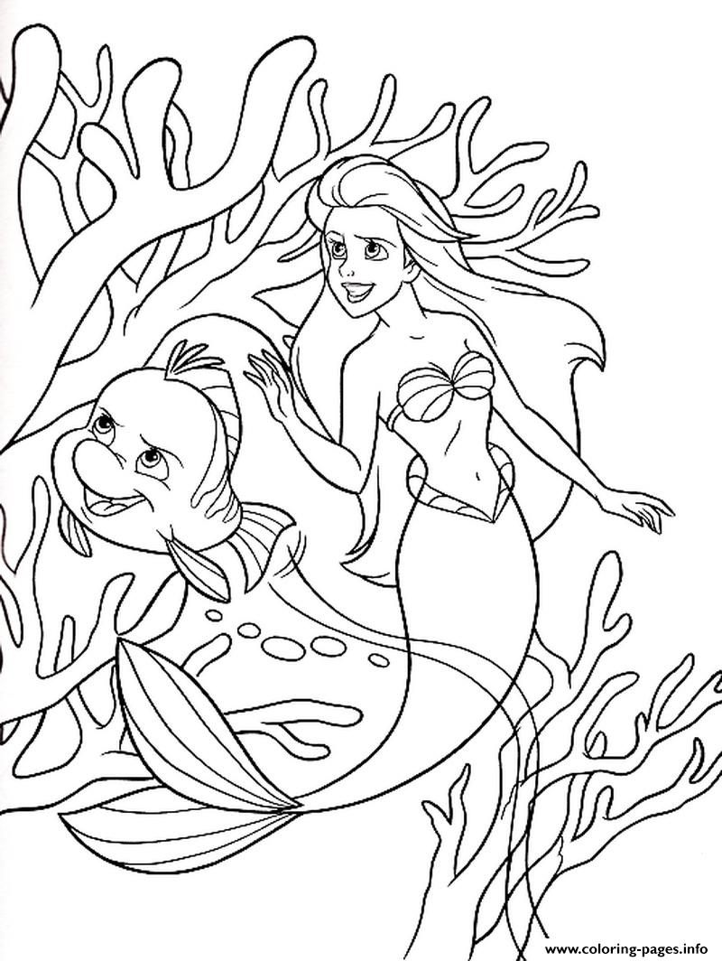 Brimsby Protecting Ariel Little Mermaid S599e Coloring Pages Printable