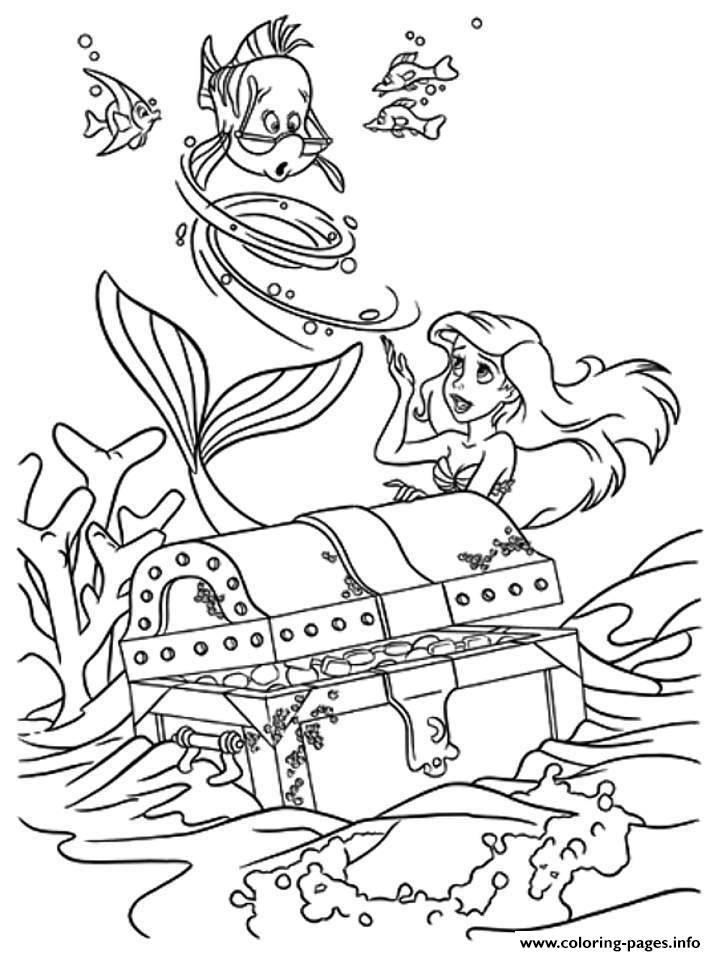 Ariel And Friends Found Treassure Box Disney Princess