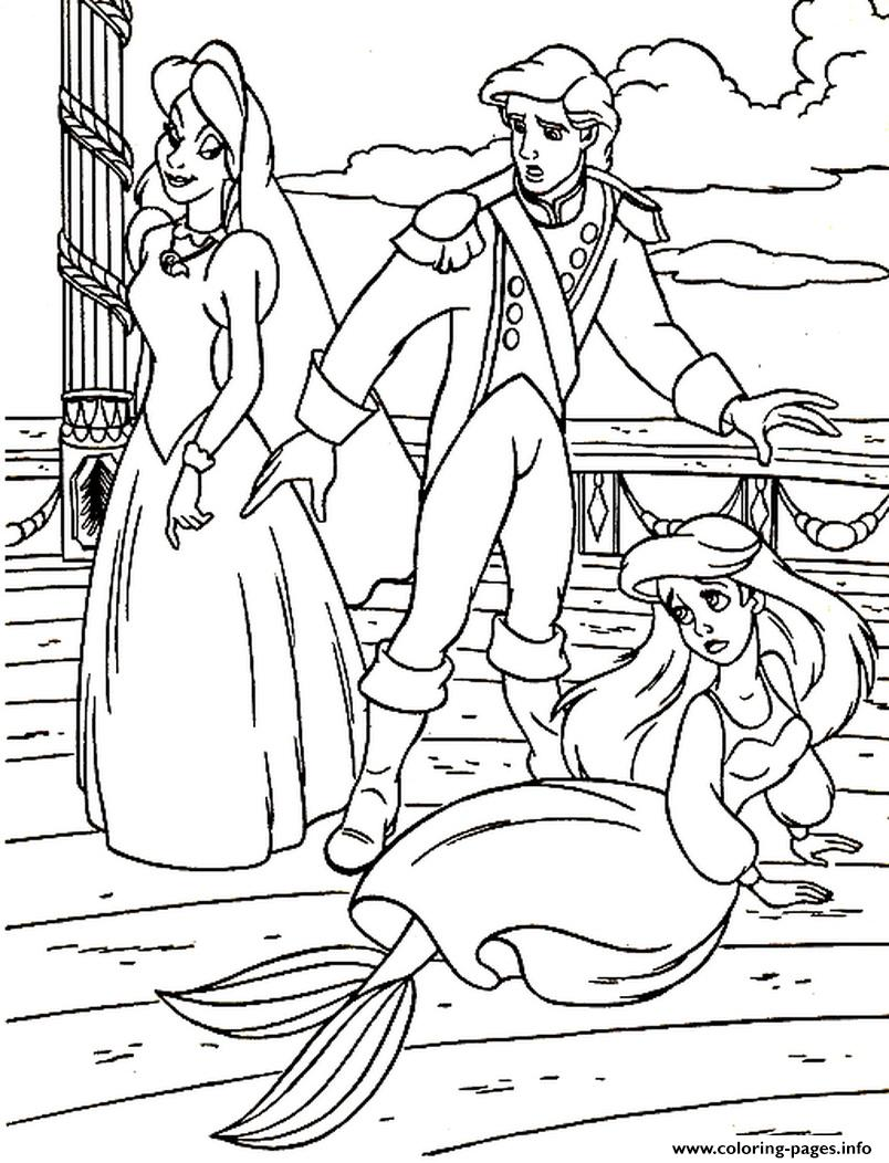 mean being annoying little mermaid 0f8a coloring pages printable
