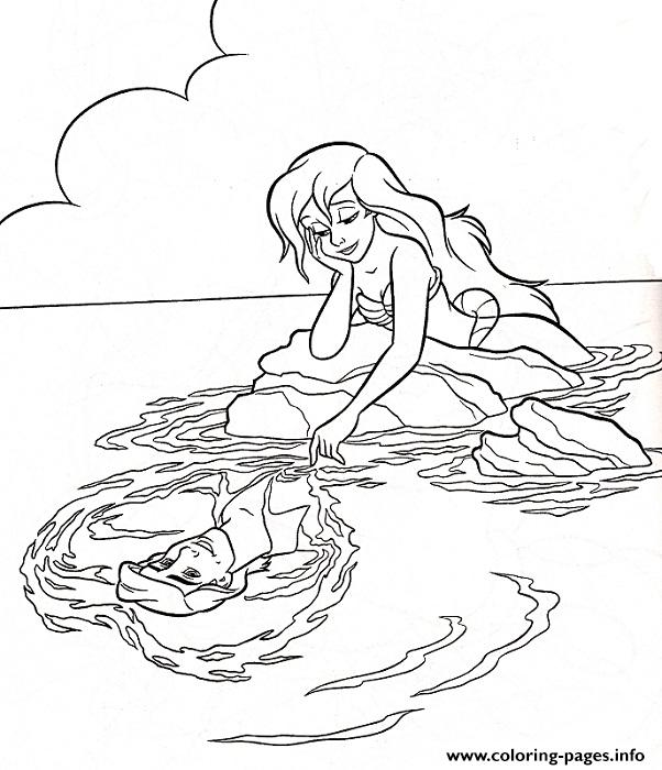Ariel The Mermaid Coloring Pages - Coloring Home | 700x602