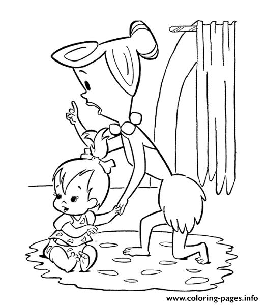 Pebbles-Flintstone-Color-flintstones-coloring-pages-free-printable ... | 600x523