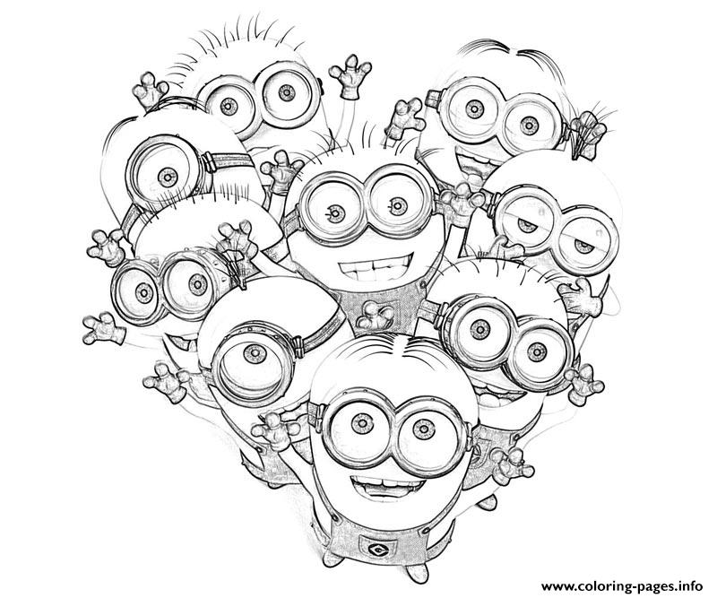 Print kids minions despicable me s0085 Coloring pages Free Printable