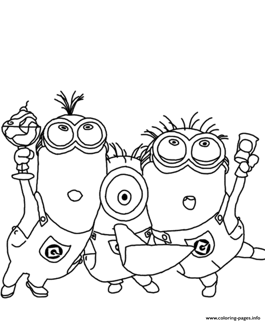 Printable coloring pages minions - Printable Coloring Pages Minions 58