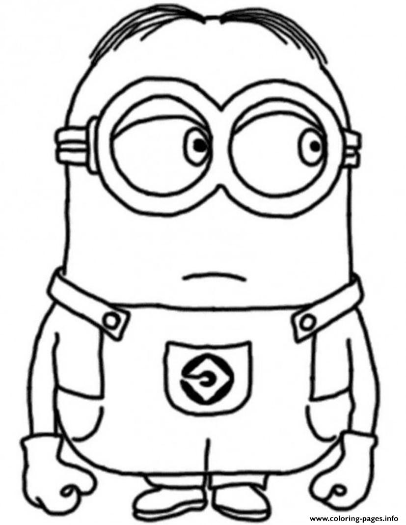 dave the minion despicable me s17c96 Coloring pages Printable