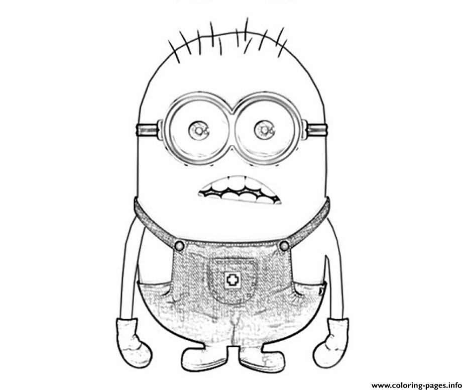 Surprising Miniondespicable Me Sadd7 Coloring Pages
