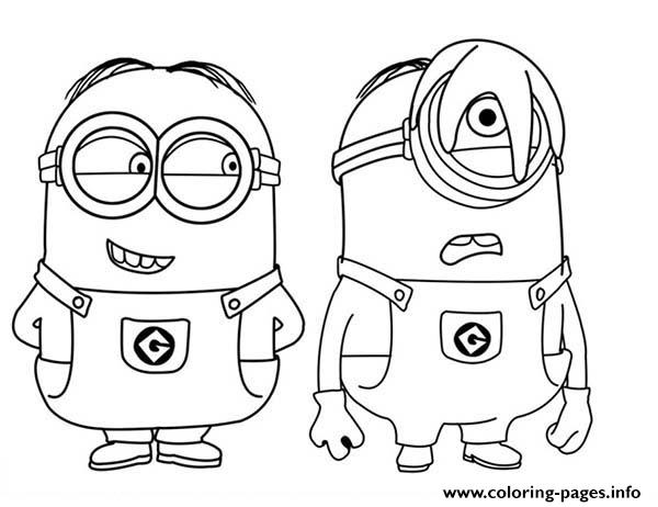 print phil and stuart the minion coloring pages - Minion Coloring Pages