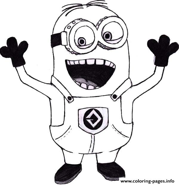 Mark The Minion Is Laughing Coloring Pages Printable