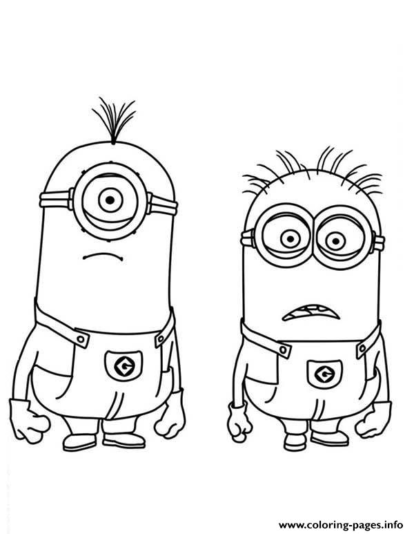 Stuart And Jerry Is Shocked The Minion Coloring Page Pages Print Download 605 Prints 2016 01 05