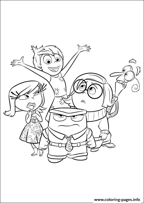 Inside Out 11 Coloring Pages Printable