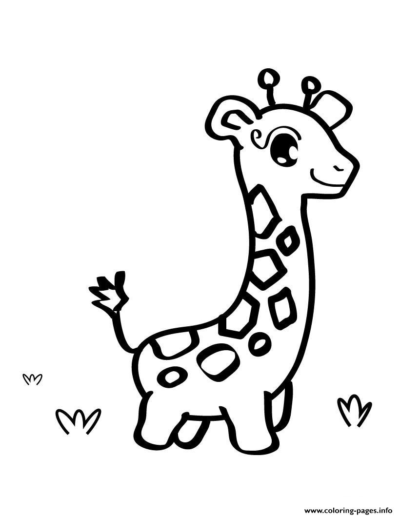 cute baby giraffe animal sd8f4 Coloring pages Printable