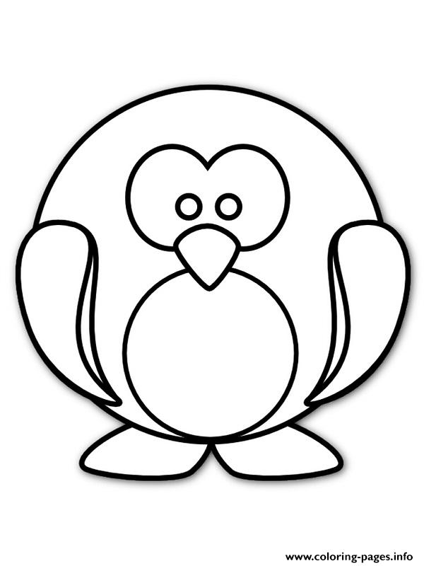 Cute Round Penguin 2769 Coloring