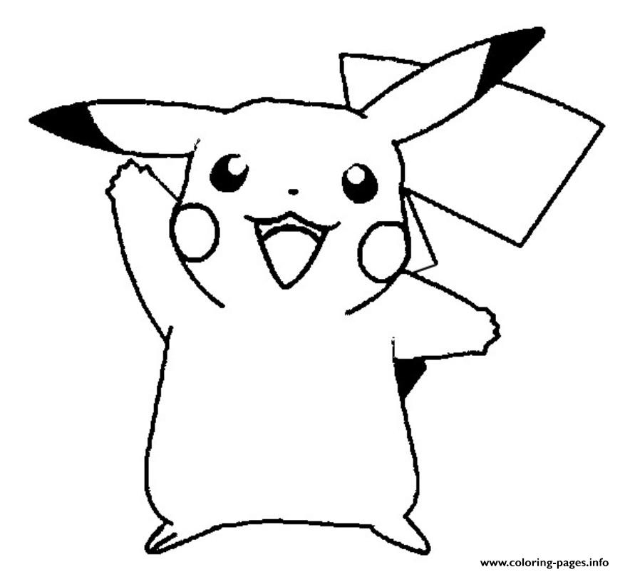Cute Pikachu S57b4 coloring pages