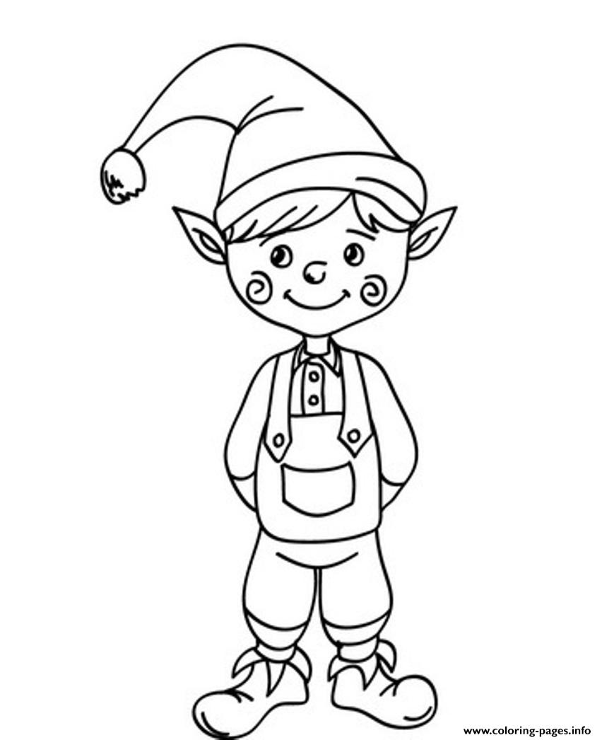 Cute Christmas Elf Saaf5 coloring pages