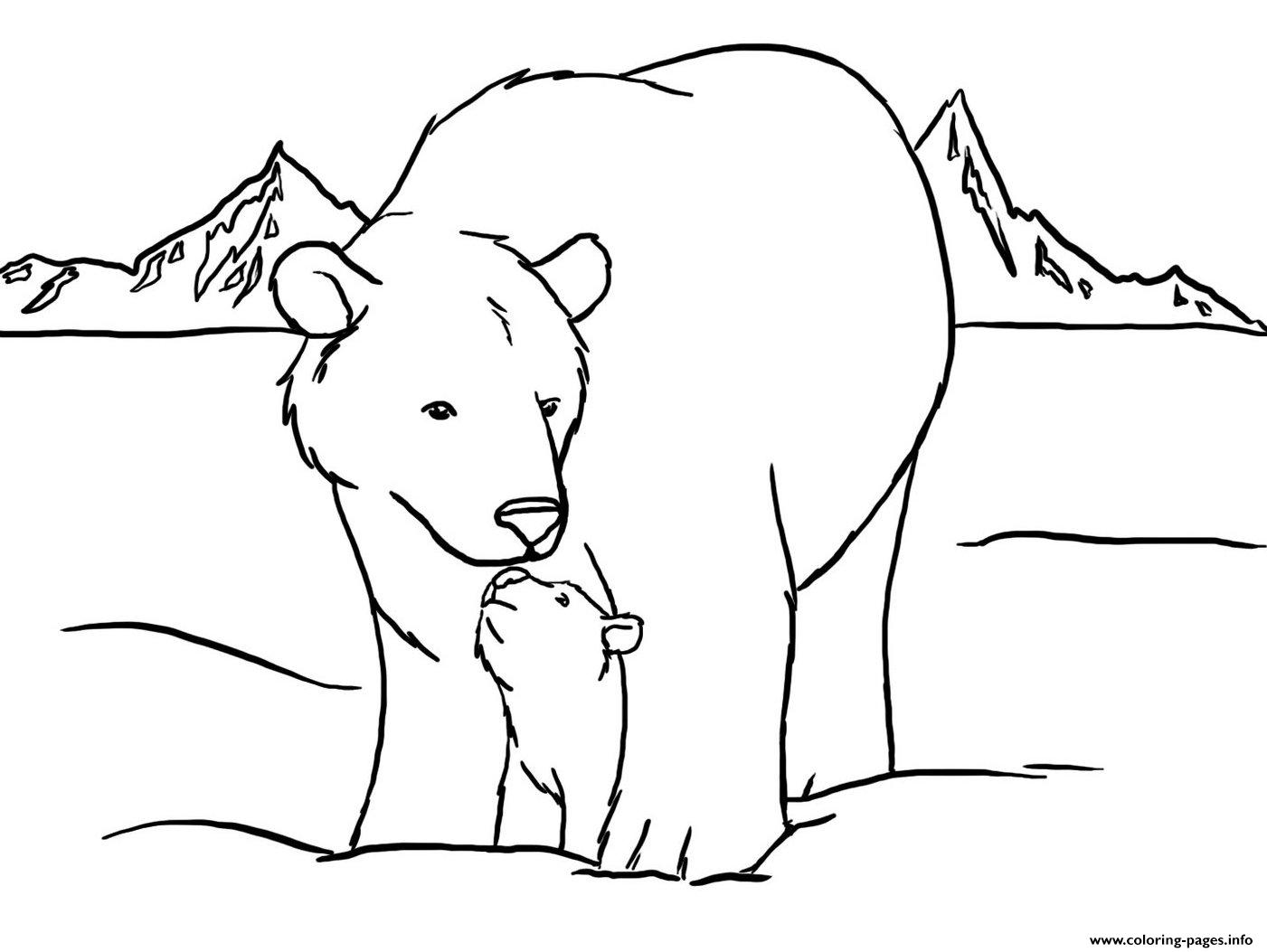 cute polar bear color pages to print9b5d coloring pages printable