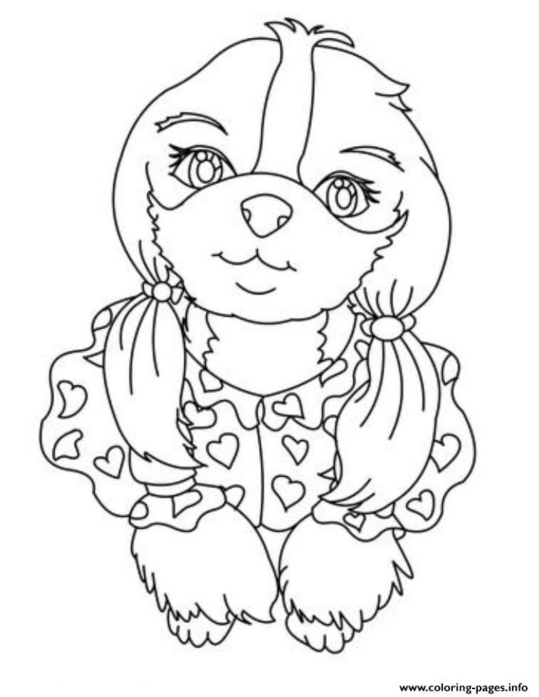 Cute Small Dog S254d Coloring Pages