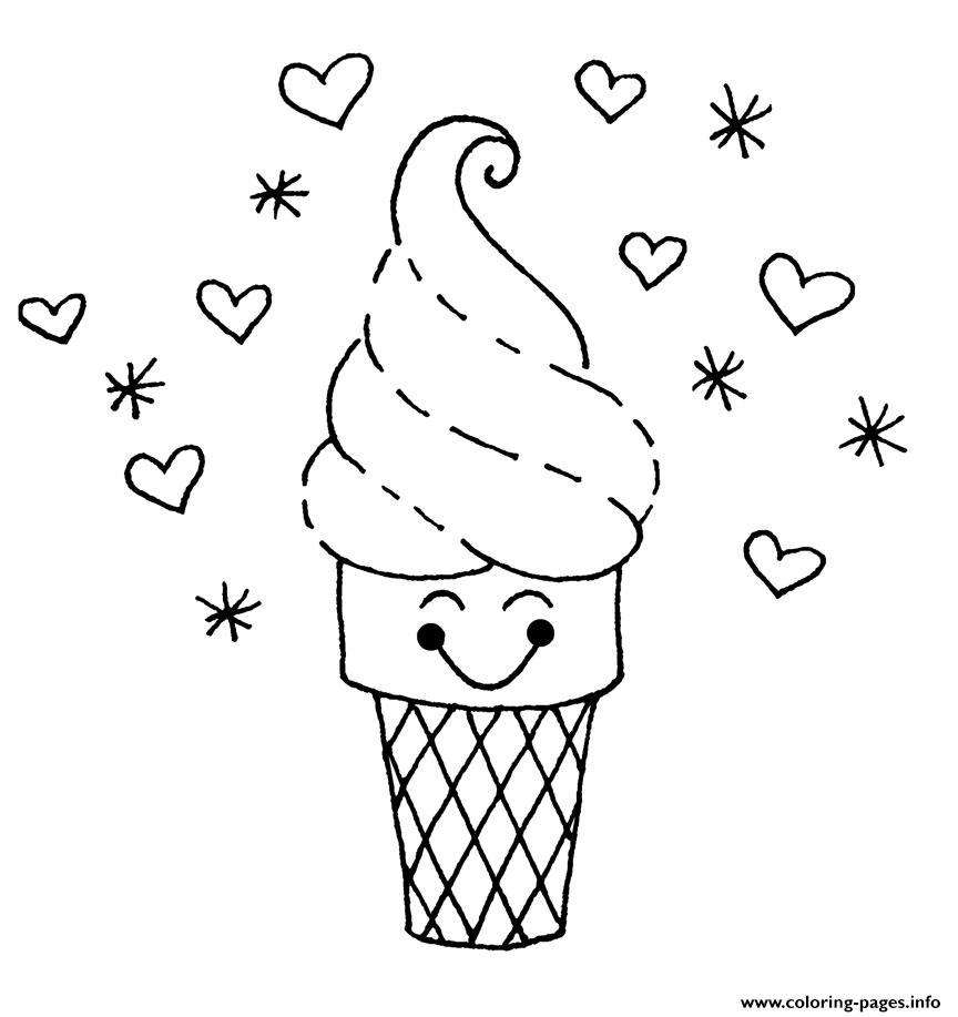 Cute Ice Cream S1bba coloring pages