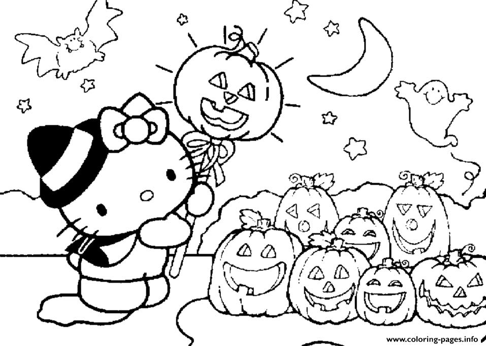 Cute Halloween S For Kids Hello Kitty0a01 coloring pages