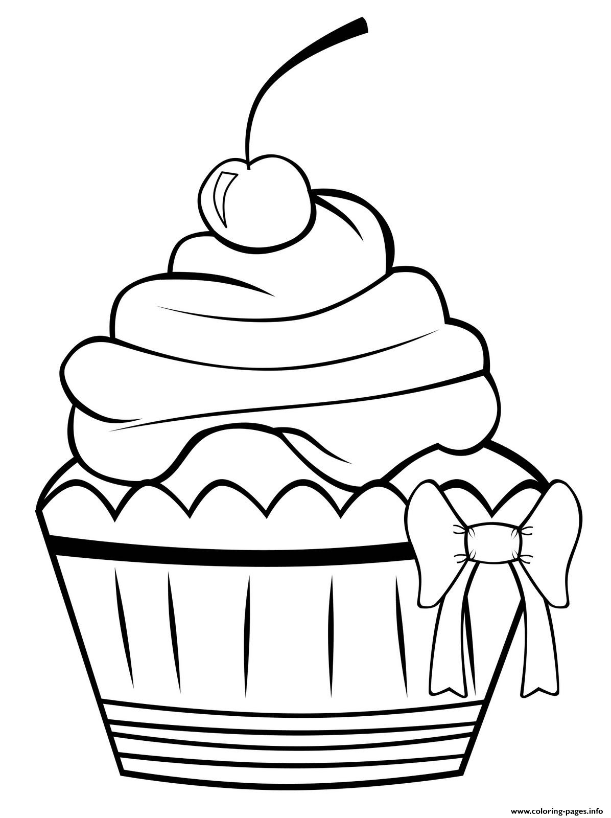 Cute Cupcake 3e3f coloring pages