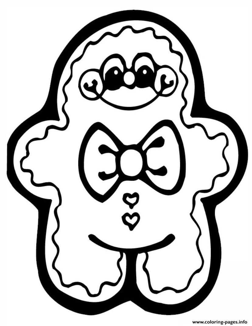 Cute Gingerbread S2eee coloring pages