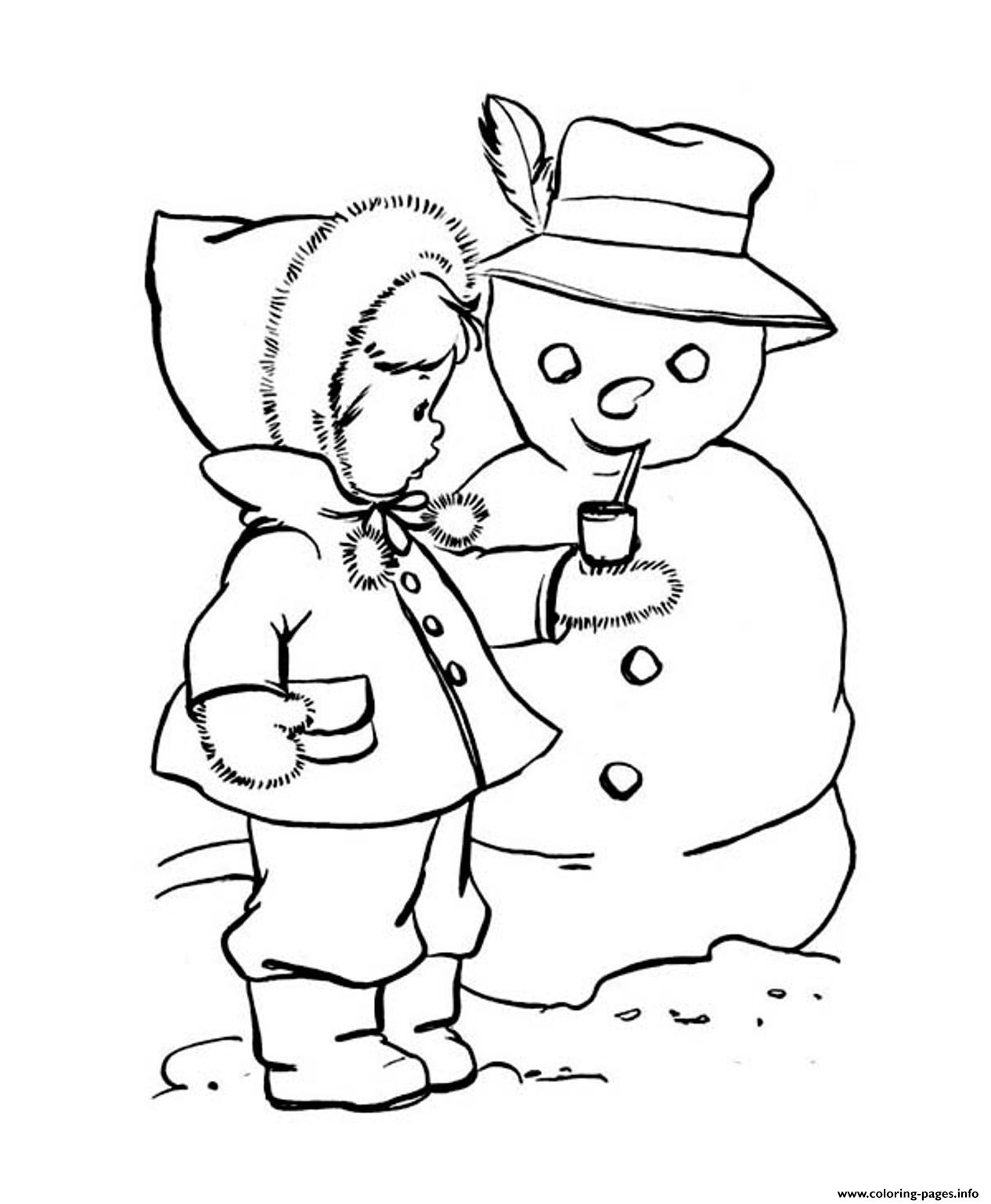 cute winter coloring pages - photo#2