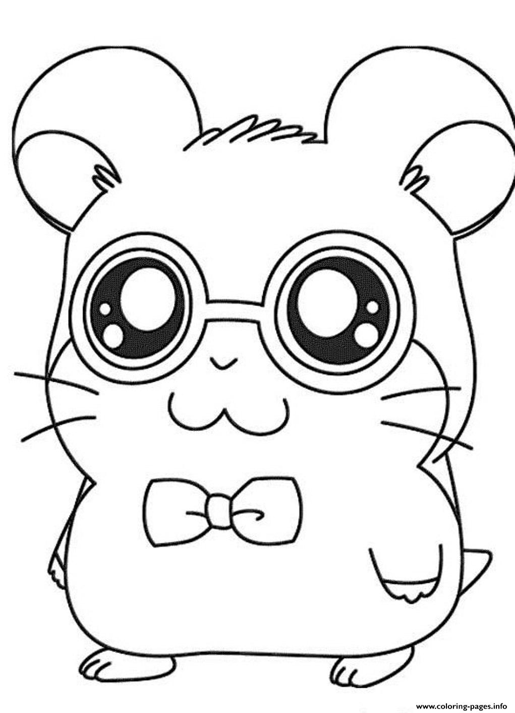 Cute Dexter Hamtaro Coloring Pages Coloring Pages Printable
