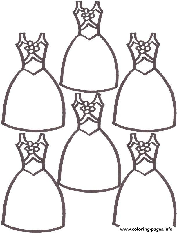 Cute Dresses 0d6a Coloring Pages Printable