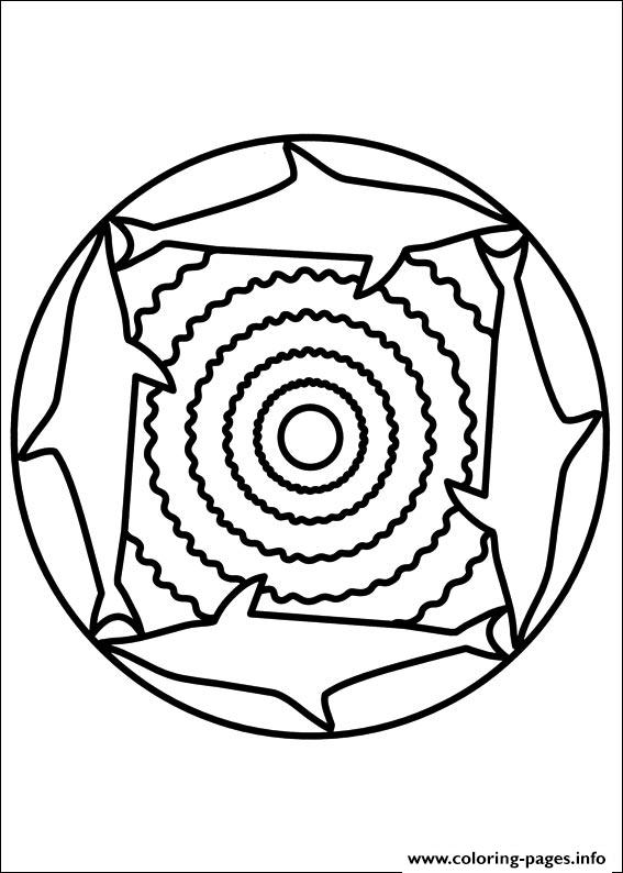 Easy Simple Mandala 89 coloring pages