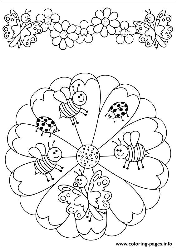 Easy Simple Mandala 47 coloring pages