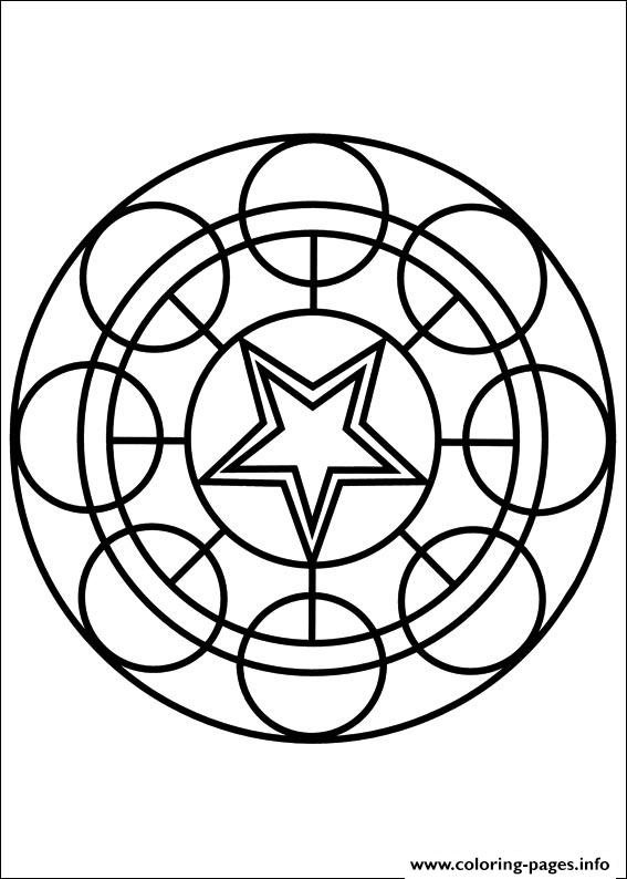 Easy Simple Mandala 75 coloring pages