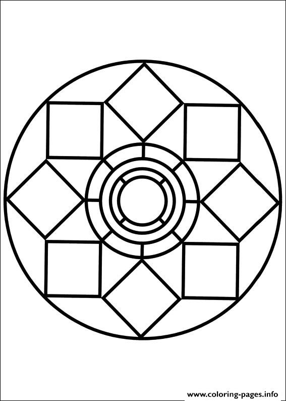 Easy Simple Mandala 79 coloring pages