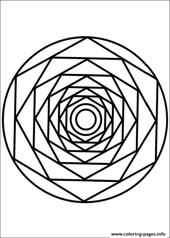 Easy Simple Mandala 86 Coloring Pages Printable
