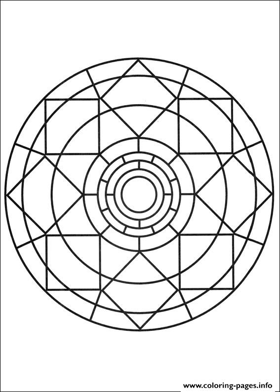 Simple Free Mandalas 07 coloring pages