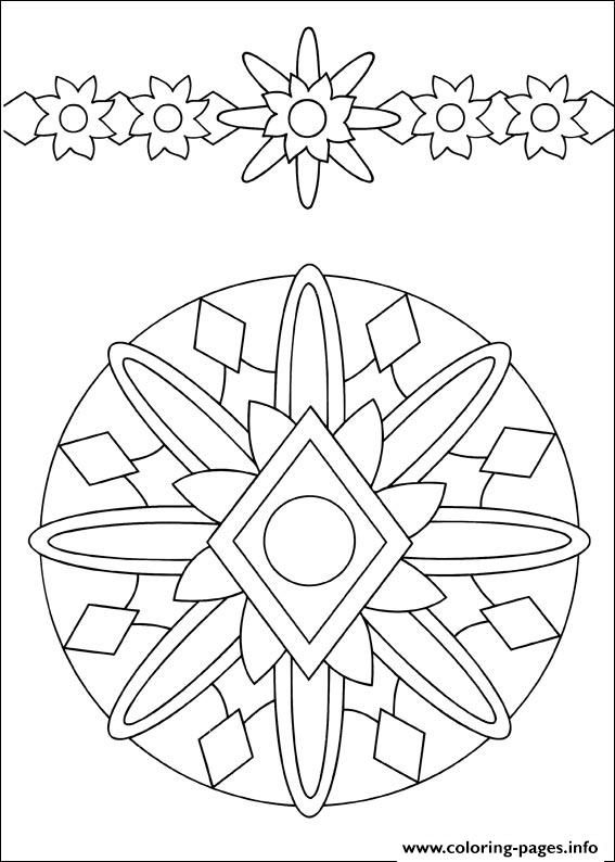 Easy Simple Mandala 54 coloring pages