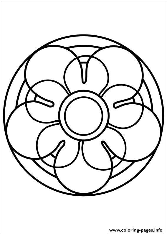 Easy Simple Mandala 67 Coloring