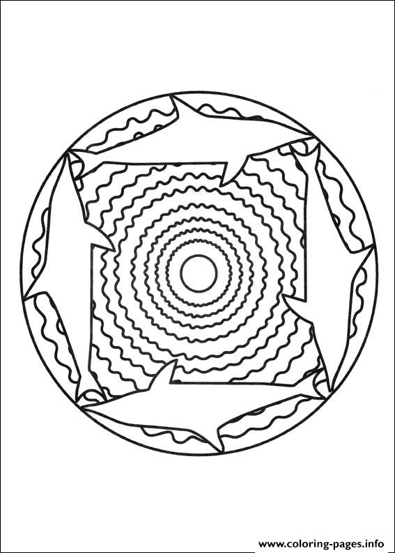 Simple Free Mandalas 15 coloring pages