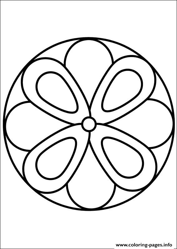Easy Simple Mandala 63 coloring pages