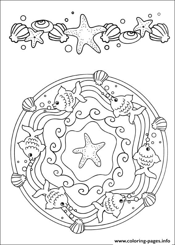 Easy Simple Mandala 55 coloring pages