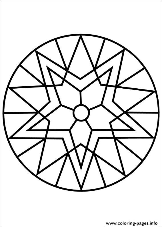 Easy Simple Mandala 84 coloring pages