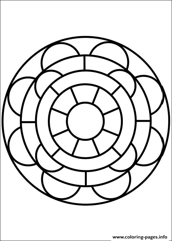 Easy Simple Mandala 83 coloring pages