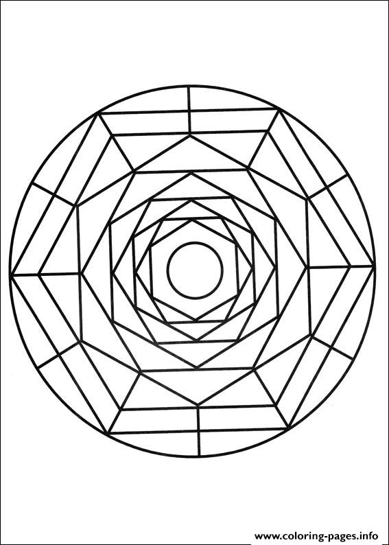 Simple Free Mandalas 19 coloring pages