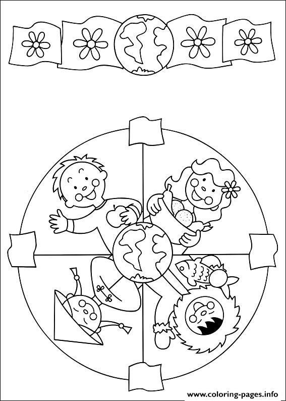 Easy Simple Mandala 49 coloring pages