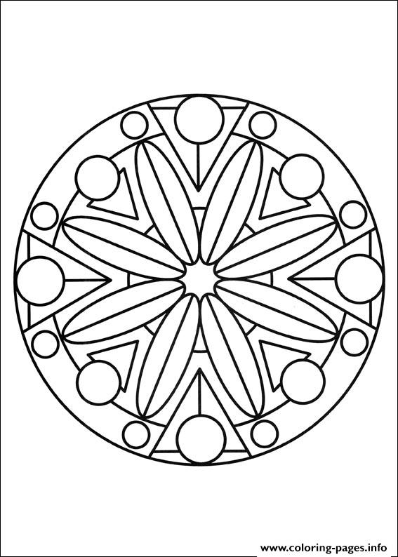 Simple Free Mandalas 16 coloring pages