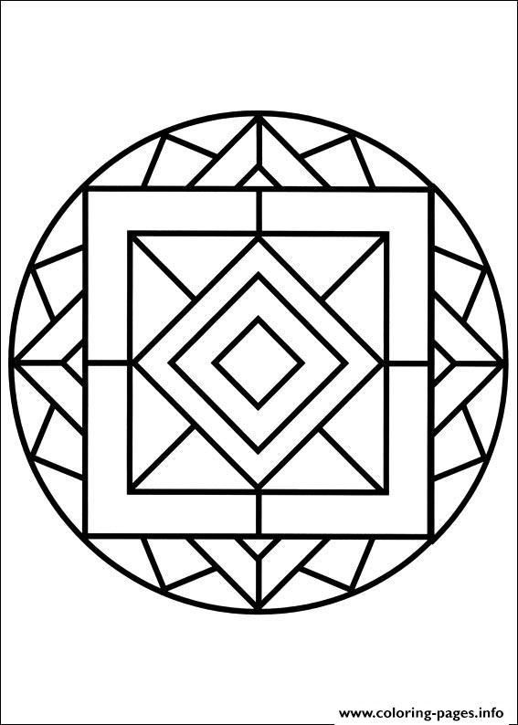 Easy Simple Mandala 82 coloring pages